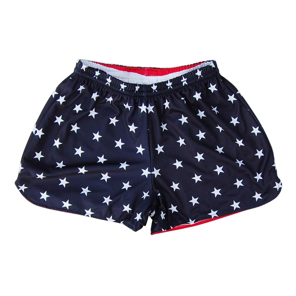 Women s American Flag and Eagle Sublimated Reversible Lacrosse Shorts fe3288e5b2